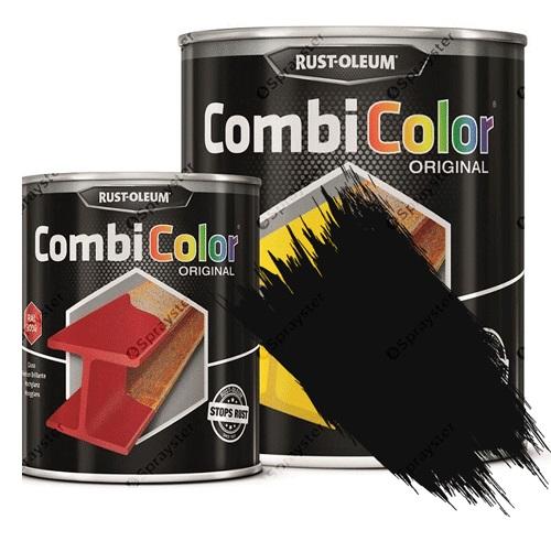 Direct-To-Metal-White-Paint-Rust-Oleum-CombiColor-Original-Satin-sprayster-black