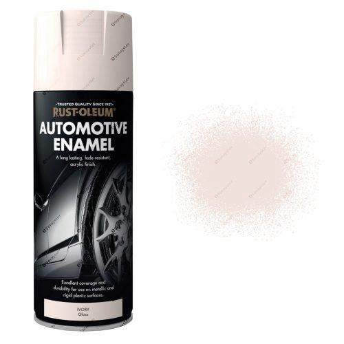 Rust Oleum Ivory Gloss Enamel Spray Paint 400ml Automotive