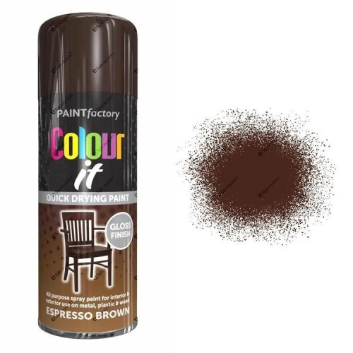 x1-Paint-Factory-Multi-Purpose-Colour-It-Spray-Paint-400ml-Espresso-Brown-Gloss