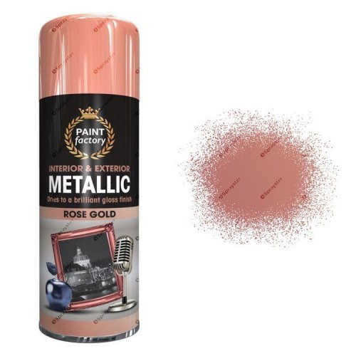 x1-Paint-Factory-Multi-Purpose-Spray-Paint-400ml-Gloss-Metallic-Rose-Gold