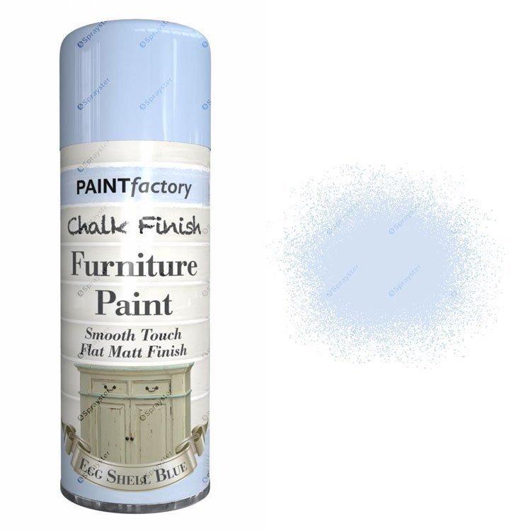 Eggshell blue chalk spray paint matt 400ml sprayster - Eggshell paint in bathroom ...