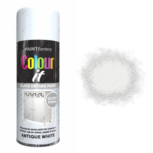 x1-Paint-Factory-Multi-Purpose-Colour-It-Spray-Paint-400ml-Antique-White-Gloss