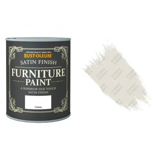 Rust-Oleum Cotton Furniture Paint 125ml Shabby Chic Toy Safe Satin