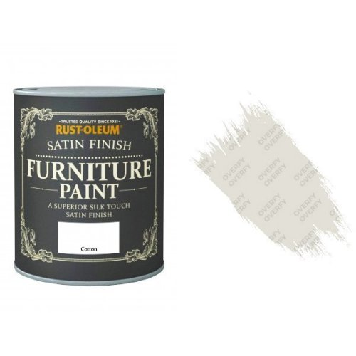 Rust-Oleum Cotton Furniture Paint 750ml Shabby Chic Toy Safe Satin