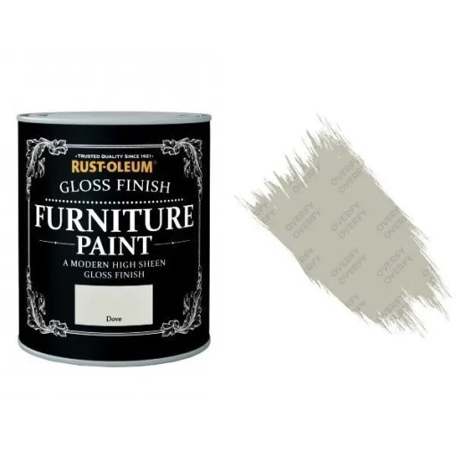 Rust-Oleum Dove Furniture Paint 750ml Shabby Chic Toy Safe Gloss