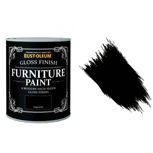 Rust-Oleum Liquorice Furniture Paint 750ml Shabby Chic Toy Safe Gloss