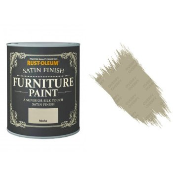 Rust-Oleum Mocha Furniture Paint 125ml Shabby Chic Toy Safe Satin