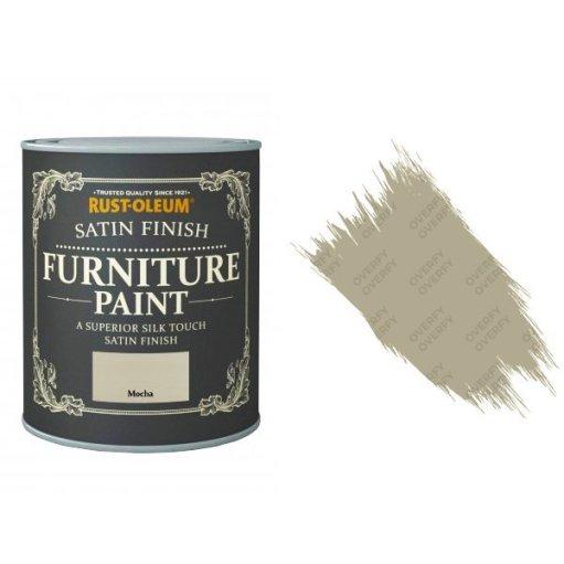 Rust-Oleum Mocha Furniture Paint 125ml Shabby Chic Toy Safe Satin