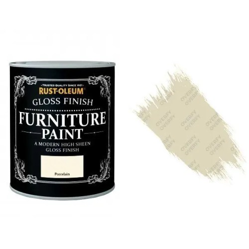 Rust-Oleum Porcelain Furniture Paint 125ml Shabby Chic Toy Safe Gloss