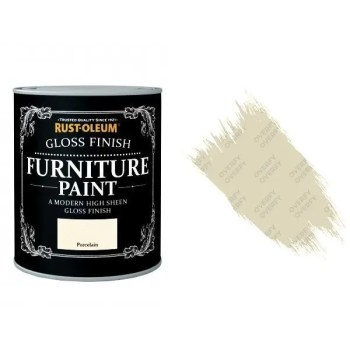 Rust-Oleum Porcelain Furniture Paint 750ml Shabby Chic Toy Safe Gloss