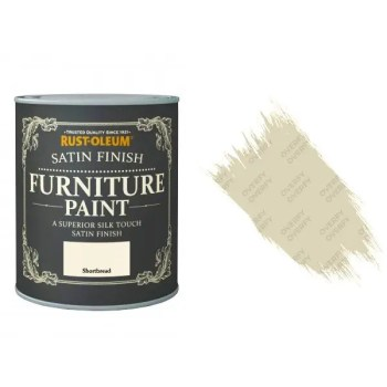 Rust-Oleum Shortbread Furniture Paint 125ml Shabby Chic Toy Safe Satin