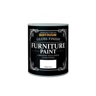 Rust-Oleum White Frost Furniture Paint 750ml Shabby Chic Toy Safe Gloss