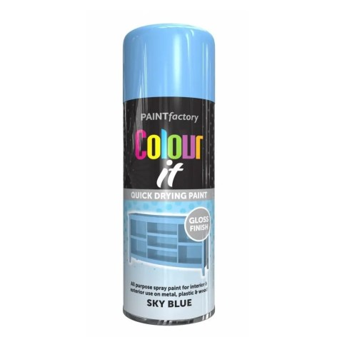 Colour It Sky Blue Spray Paint Gloss 400ml