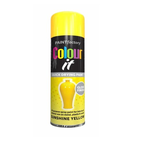 Colour It Sunshine Yellow Spray Paint Gloss 400ml