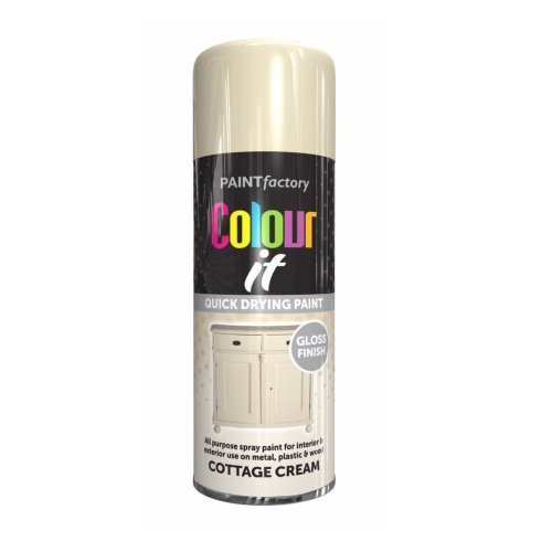 Colour It Cottage Cream Spray Paint Gloss 400ml