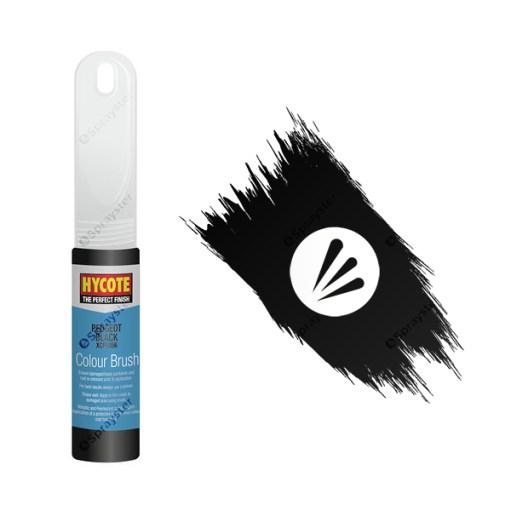 Hycote-Peugeot-Black-XCPE056-Brush-Paint