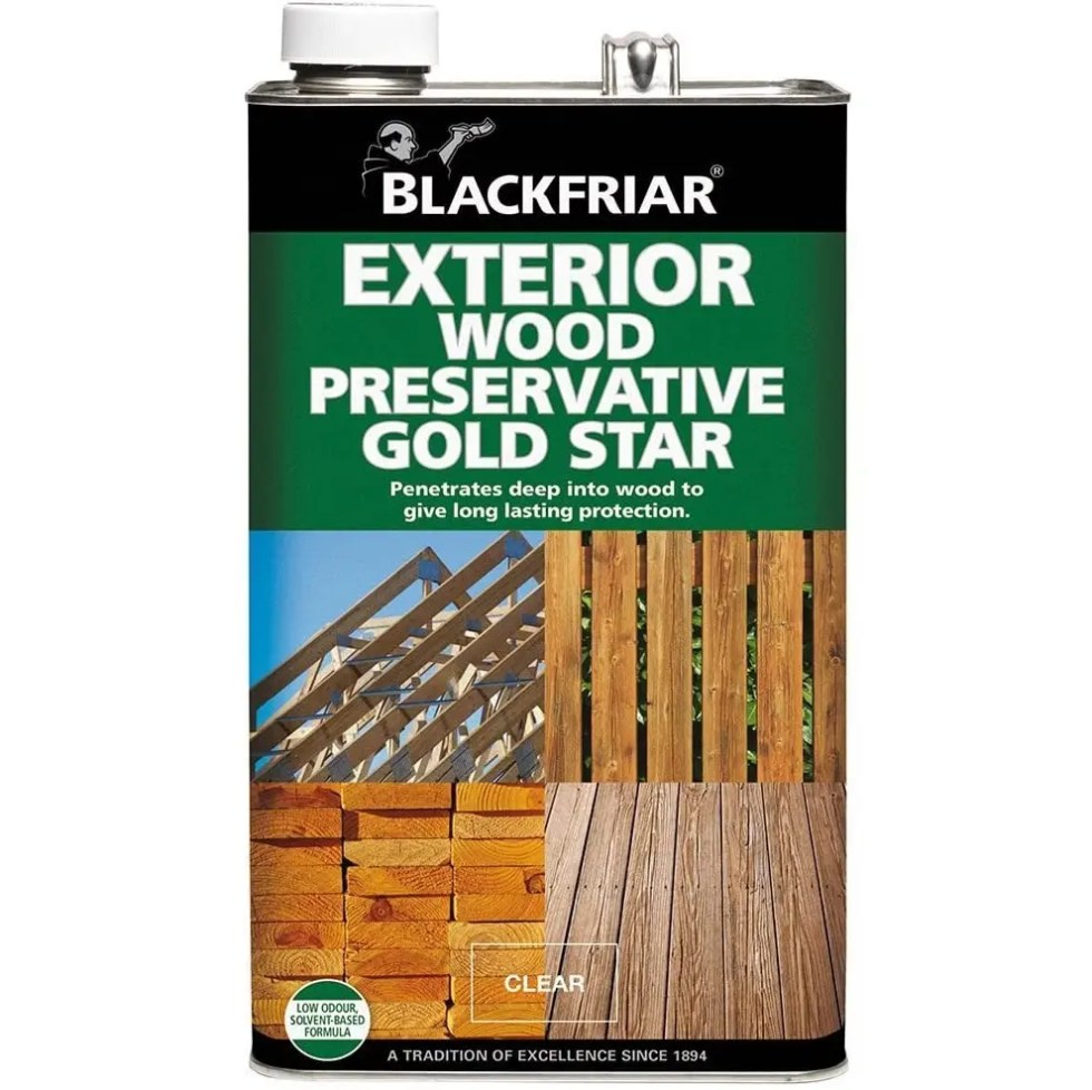 Blackfriar Clear Exterior Wood Preserver Gold Star