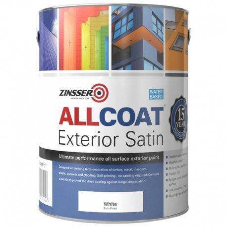 Zinsser Allcoat Self-Primer Exterior 15 Year WB Satin White 10L