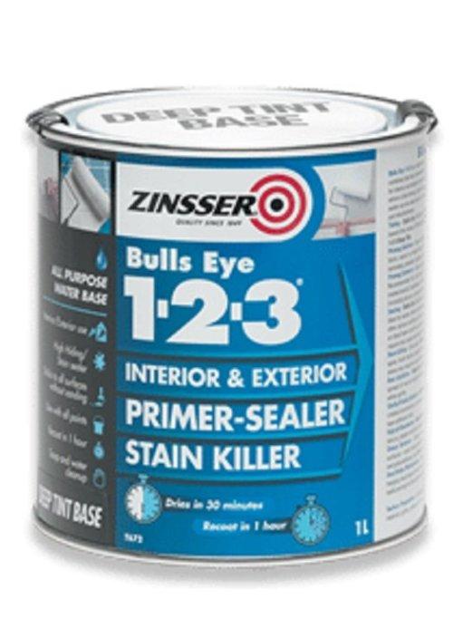 Zinsser Bulls Eye 123 Deep Tint Primer Sealer Interior Exterior 500ml