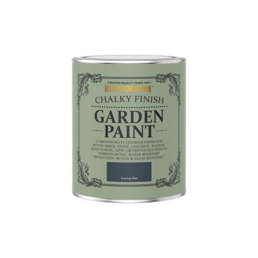 Rust-Oleum Chalky Garden Paint Evening Blue Matt 750ml