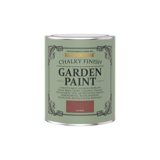 Rust-Oleum Chalky Garden Paint Fire Brick Matt 750ml