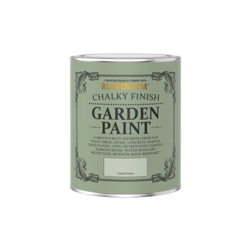 Rust-Oleum Chalky Garden Paint Laurel Green Matt 750ml