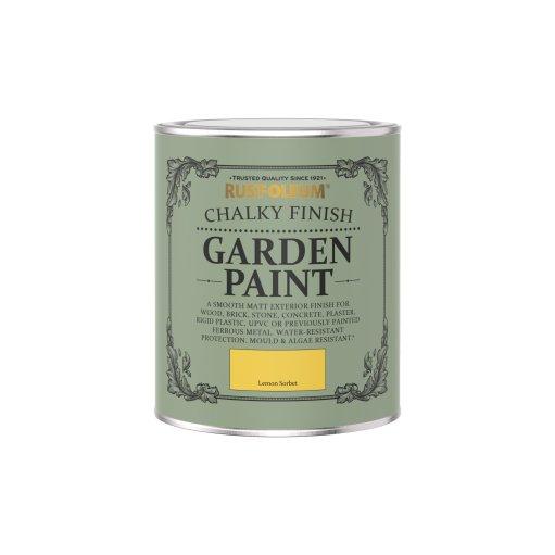 Rust-Oleum Chalky Garden Paint Lemon Sorbet Matt 750ml