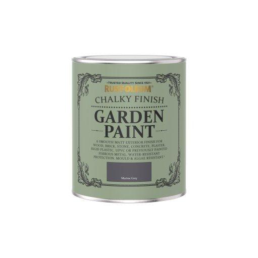 Rust-Oleum Chalky Garden Paint Marine Grey Matt 750ml