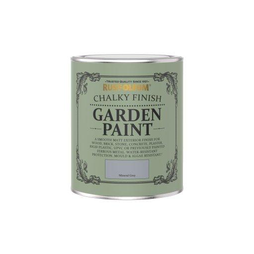 Rust-Oleum Chalky Garden Paint Mineral Grey Matt 750ml