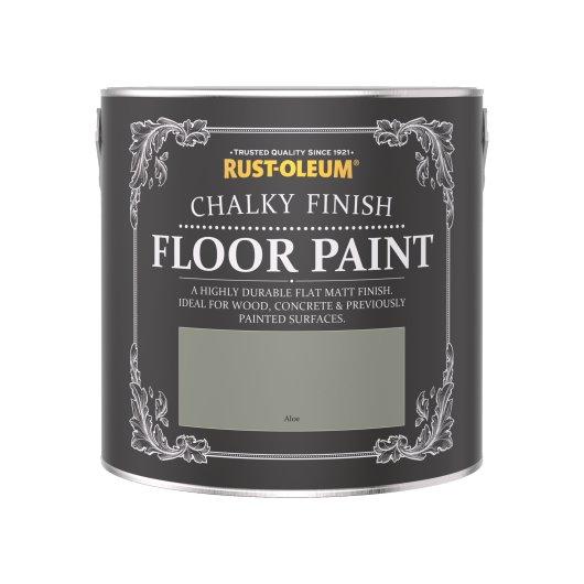 Rust-Oleum Chalky Floor Paint Aloe Matt 2.5L