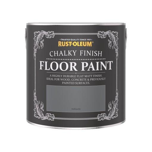 Rust-Oleum Chalky Floor Paint Anthracite Matt 2.5L