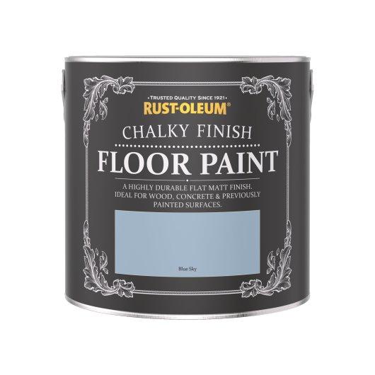 Rust-Oleum Chalky Floor Paint Blue Sky Matt 2.5L