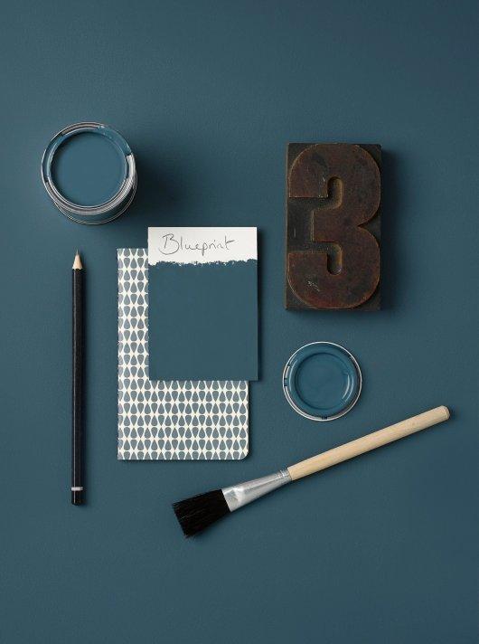 Rust-Oleum Chalky Floor Paint Blueprint Matt 2.5L 2