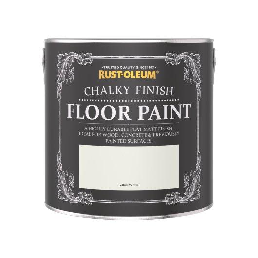 Rust-Oleum Chalky Floor Paint Chalk White Matt 2.5L