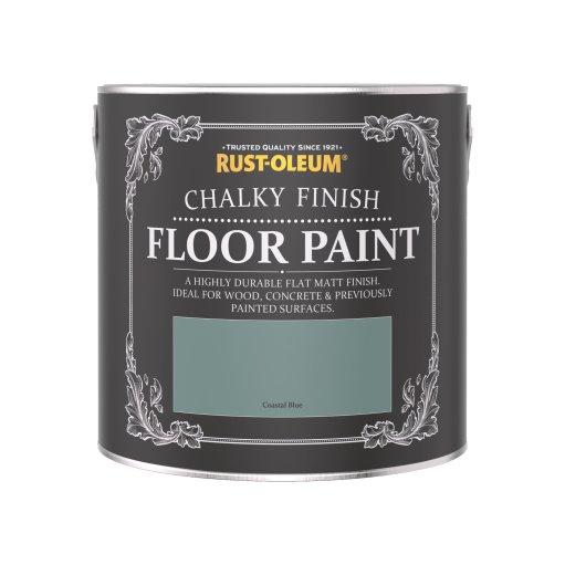 Rust-Oleum Chalky Floor Paint Coastal Blue Matt 2.5L