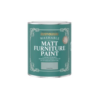 Rust-Oleum Matt Furniture Paint Coastal Blue 750ml