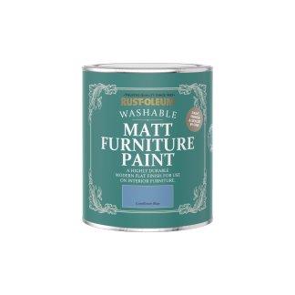 Rust-Oleum Matt Furniture Paint Cornflower Blue 750ml