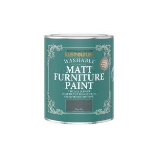 Rust-Oleum Matt Furniture Paint Deep Sea 750ml
