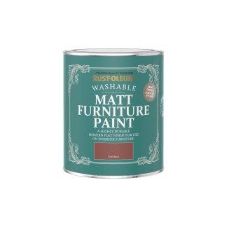 Rust-Oleum Matt Furniture Paint Fire Brick 750ml