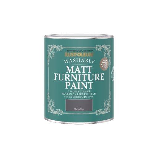 Rust-Oleum Matt Furniture Paint Marine Grey 750ml