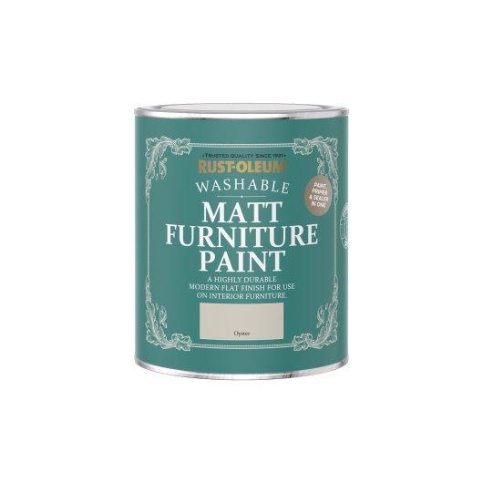 Rust-Oleum Matt Furniture Paint Oyster 750ml