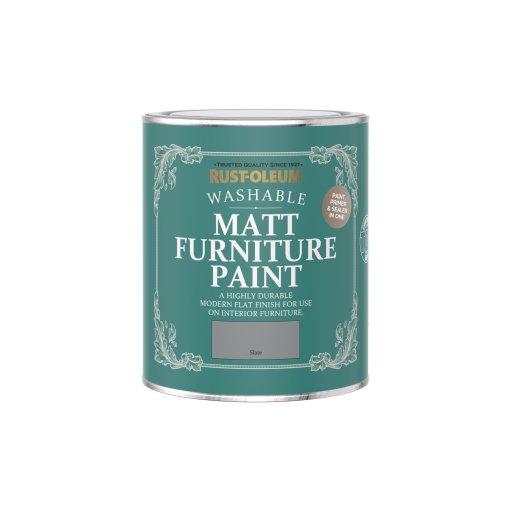 Rust-Oleum Matt Furniture Paint Slate 750ml