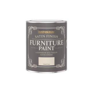 Rust-Oleum Satin Furniture Paint Clotted Cream 750ml