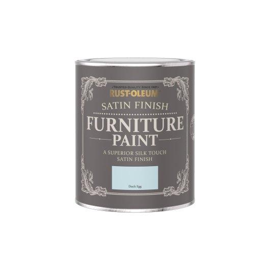 Rust-Oleum Satin Furniture Paint Duck Egg 750ml