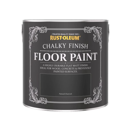 Chalky Floor Paint Natural Charcoal 2.5L