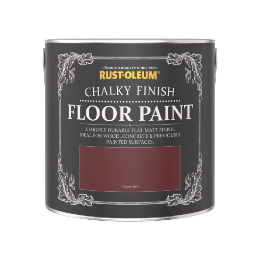 Rust-Oleum Chalky Floor Paint Empire Red Matt 2.5L