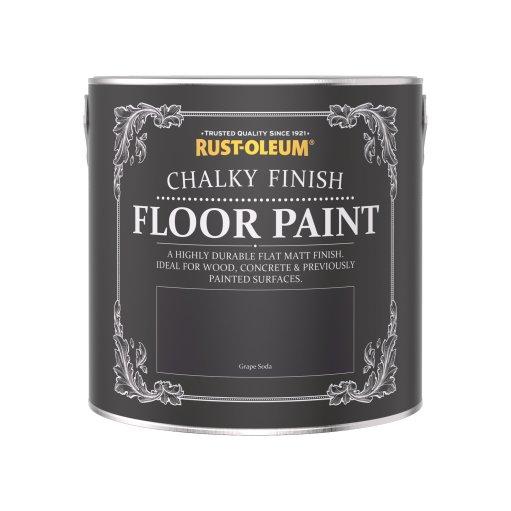 Rust-Oleum Chalky Floor Paint Grape Soda Matt 2.5L
