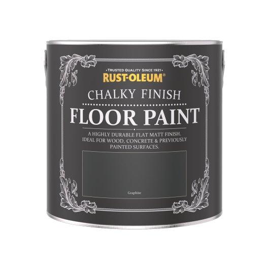 Rust-Oleum Chalky Floor Paint Graphite Matt 2.5L