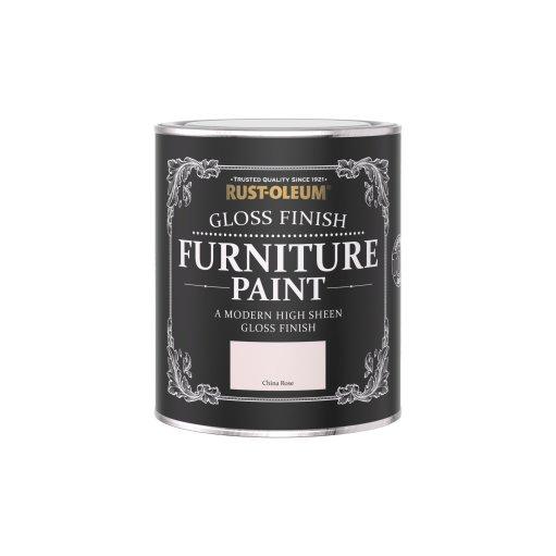 Rust-Oleum Gloss Furniture Paint China Rose 750ml