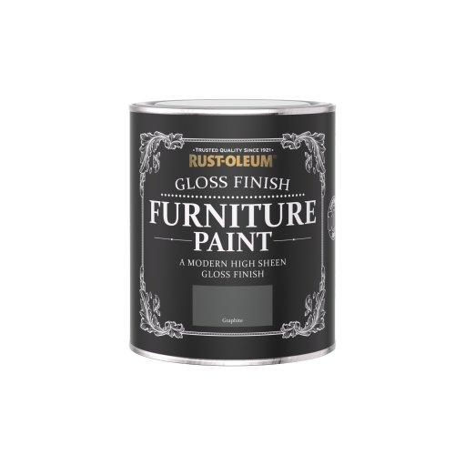 Rust-Oleum Gloss Furniture Paint Graphite 750ml